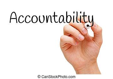 Accountability Black Marker - Hand writing Accountability...