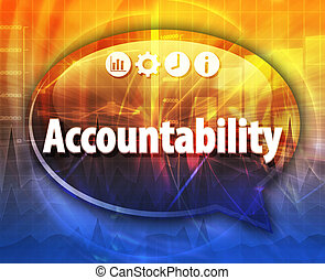 Accountability Business term speech bubble illustration