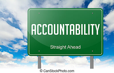 Accountability on Highway Signpost. - Highway Signpost with ...