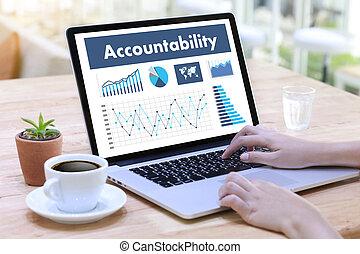 accountability, sparepenger konto i, penge, global finans, beregn, den, antal