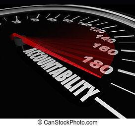 Accountability Speedometer Automotive Recall Blame...