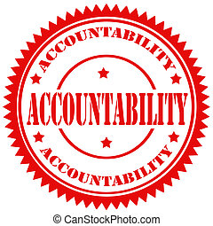 Accountability-stamp - Rubber stamp with text Accountability...