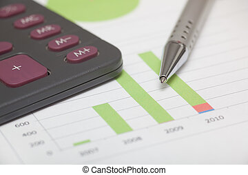 Accountancy graphics and calculator