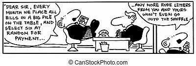 Accountant 0 - Cartoon about finance, humor, humour.