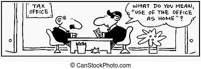 Accountant 02 - Cartoon accounts accountant bookkeeping