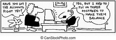 Accountant 11 - Cartoon about finance, humor, humour.