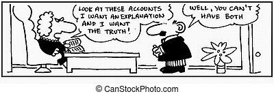 Accountant 15 - Cartoon about finance, humor, humour.