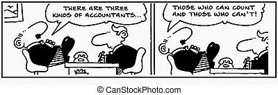 Accountant 30 - Cartoon about finance, humor, humour.