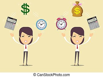Accountant at work. Savings, finances and economy concept