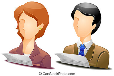 Accountant Avatars with Clipping Path