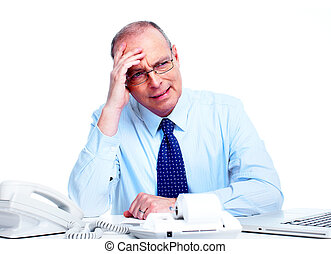 Accountant businessman. - Accountant businessman having a...