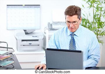 Accountant businessman. - Executive handsome businessman. At...