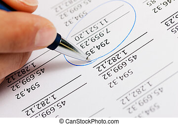 accountant, getallen, werkende