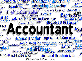 Accountant Job Showing Balancing The Books And Book Keeper