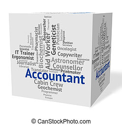 Accountant Job Represents Balancing The Books And Accountants