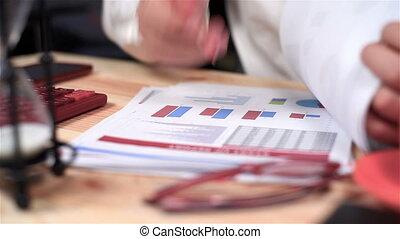 Accountant Monitoring Budget - Businessman Monitoring Stock...