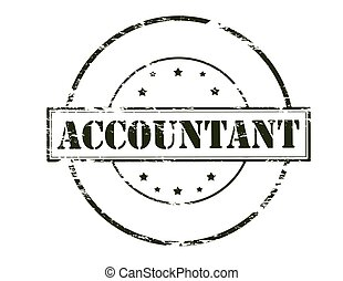 Accountant - Rubber stamp with word accountant inside,...