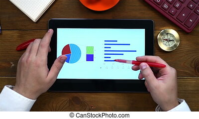 Accountant Using Tablet - Accountant Using Touch Pad To...
