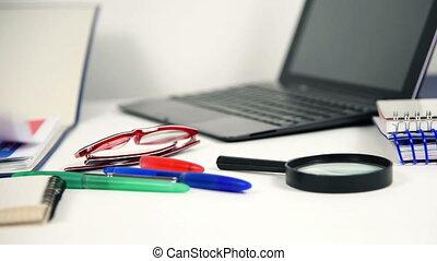 Accountant Woman Checks Report - Accountant Woman Checks The...