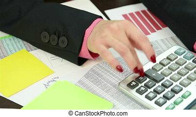 Accountant Writing Amount Of Earnin