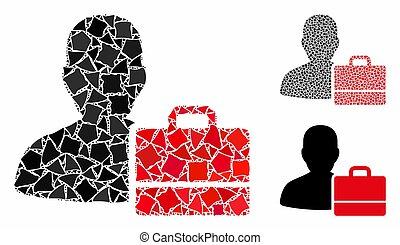 accounter, partes, mosaico, raggy, ícone