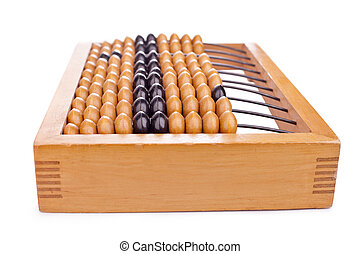 Accounting abacus isolated on white background