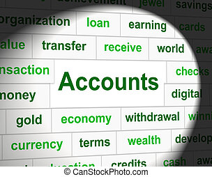 Accounting Accounts Represents Balancing The Books And Accountant
