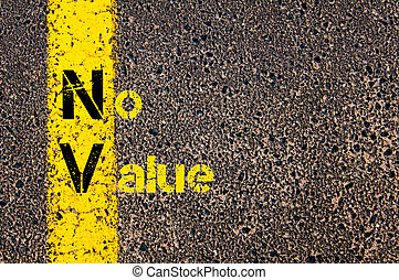 Accounting Business Acronym NV No Value - Concept image of...