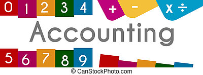Accounting Colorful Background
