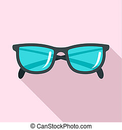 Accounting glasses icon, flat style