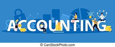 Accounting Horizontal Illustration