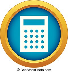 Accounting icon blue vector isolated