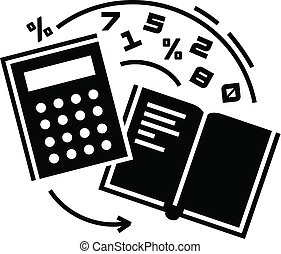 Accounting icon, simple style