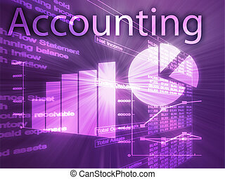Accounting illustration of Spreadsheet and business...