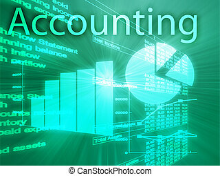 Accounting illustration of Spreadsheet and business ...