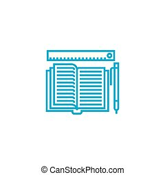 Accounting journal linear icon concept. Accounting journal...