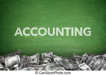 Accounting on blackboard - Accounting word on green...