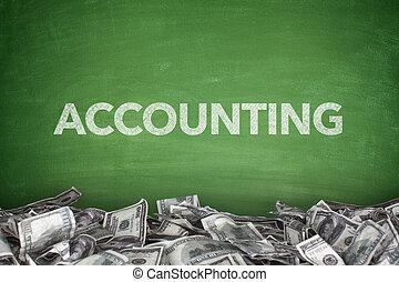 Accounting on blackboard - Accounting word on green...