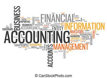 """""""accounting"""", palabra, nube"""