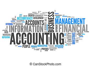 """""""accounting"""", palavra, nuvem"""