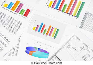 Accounting - financial charts and graphs on the table