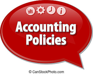 Accounting Policies Business term speech bubble illustration...
