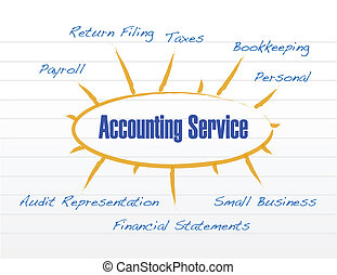 accounting service model illustration design over a white...
