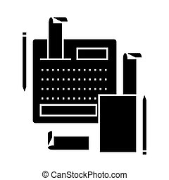 accounting system  icon, vector illustration, sign on isolated background