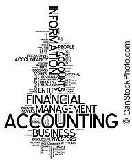 """""""accounting"""", szó, felhő"""
