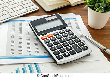 Accounting with calculator