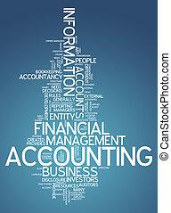 """accounting"", woord, wolk"