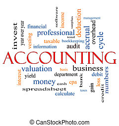 Accounting Word Cloud Concept with great terms such as...
