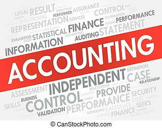 ACCOUNTING word cloud, business concept