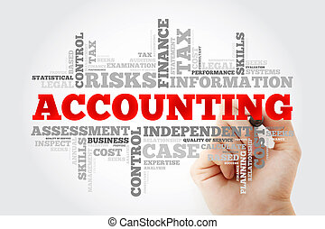 ACCOUNTING word cloud with marker